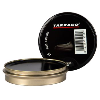 Крем-паста Tarrago для обуви Shoe Polish 50ml, Черный фото 39388