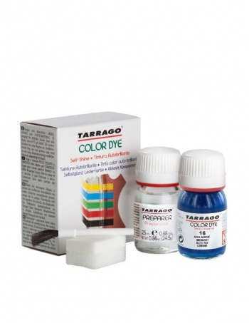 Краска Tarrago для гладкой кожи SELF SHINE COLOR DYE double 25мл.+25мл., Полночь фото 44483